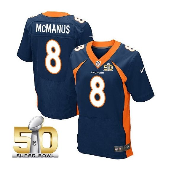 Denver Broncos  8 Brandon McManus Navy 2016 Super Bowl 50 Elite Jersey 799243e57