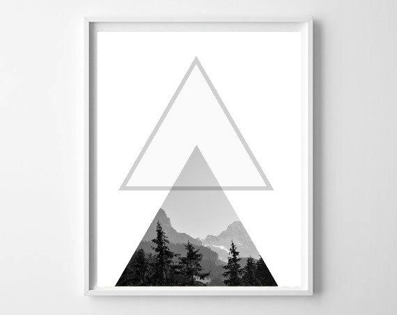 Printable art forest print black white wall art forest photography minimalist print