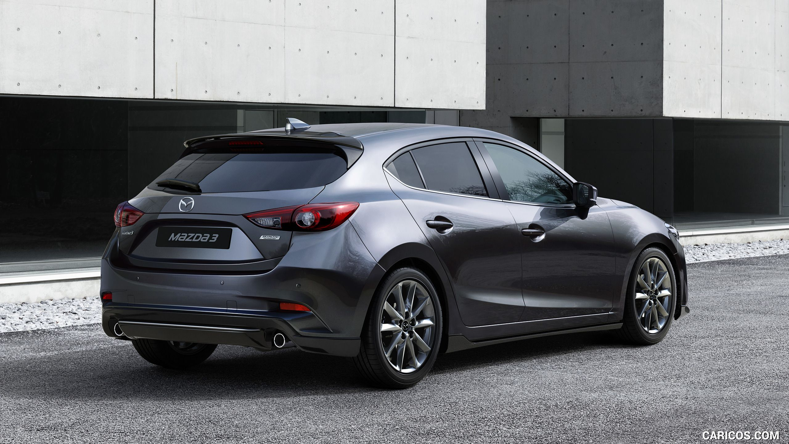 2017 Mazda 3 5 Door Hatchback Color Machine Grey Rear Three