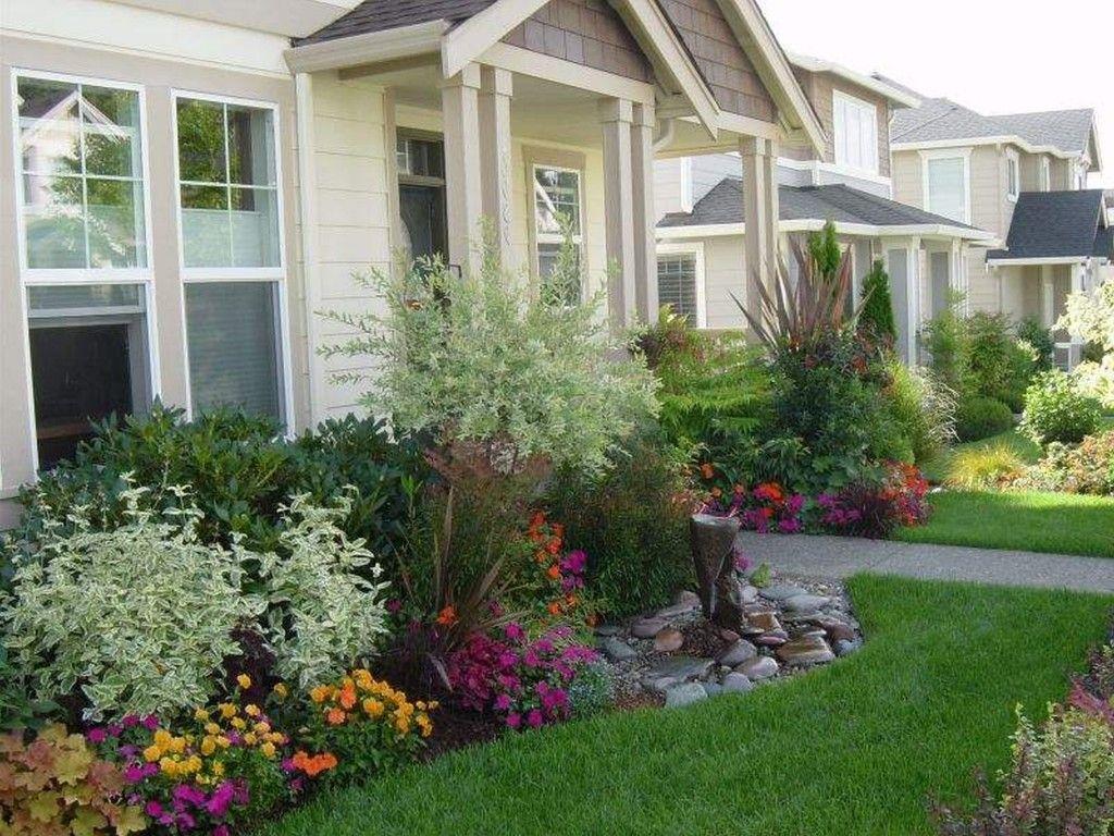 Landscape Design Pleasing Small Landscape With Flower Beds For