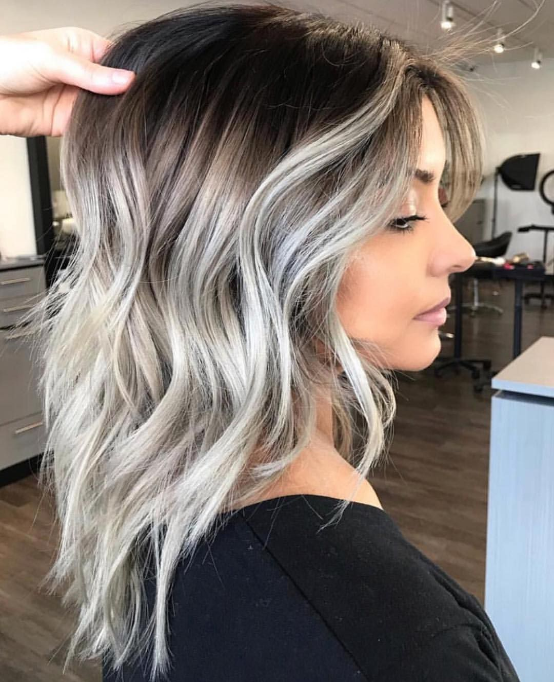 Smokeee Monicasilacci Hair Styles Spring Hair Color Silver Ombre Hair