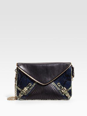 Minkoff...gunmetal and navy go together so well.