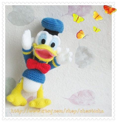 Donald Duck 8.5 inches - PDF amigurumi crochet pattern