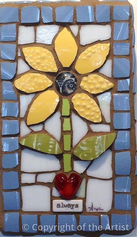 Bloom Always by Anja Hertle ~ Maplestone Gallery ~ Contemporary Mosaic Art