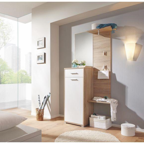 praktische garderobe mit spiegel wie geschaffen f r ihren flur vorzimmer pinterest. Black Bedroom Furniture Sets. Home Design Ideas
