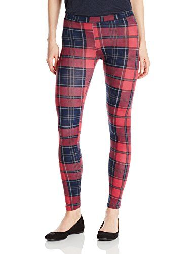 Alternative Women's Printed Legging, Redwood Plaid, Small Alternative