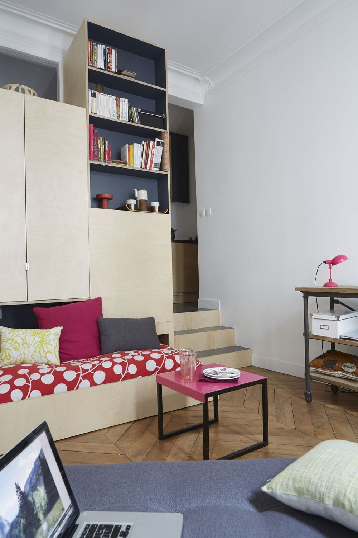 Studio Etudiant Paris 17m2 Bien Meuble Fonctionnel Et Pratique With Images Small Spaces Home Decor