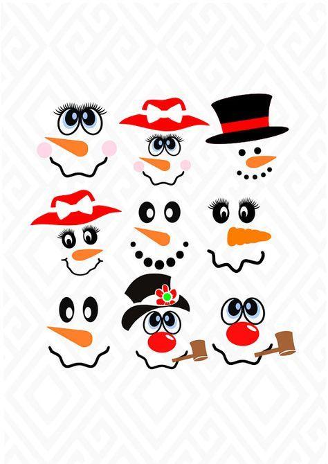 Snowman Svg Snowman T Shirt Svg Christmas Svg Snowman Clip Etsy Printable Snowman Faces Snowman Faces Xmas Crafts
