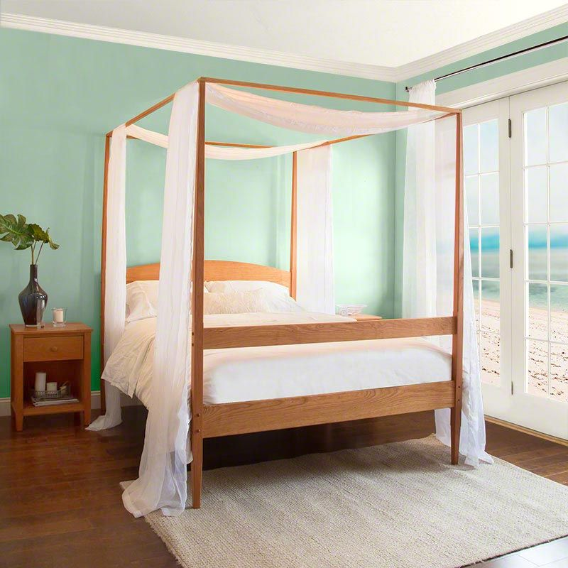 Vermont Shaker Four Poster Bed Bedroom Furniture For Sale Bed