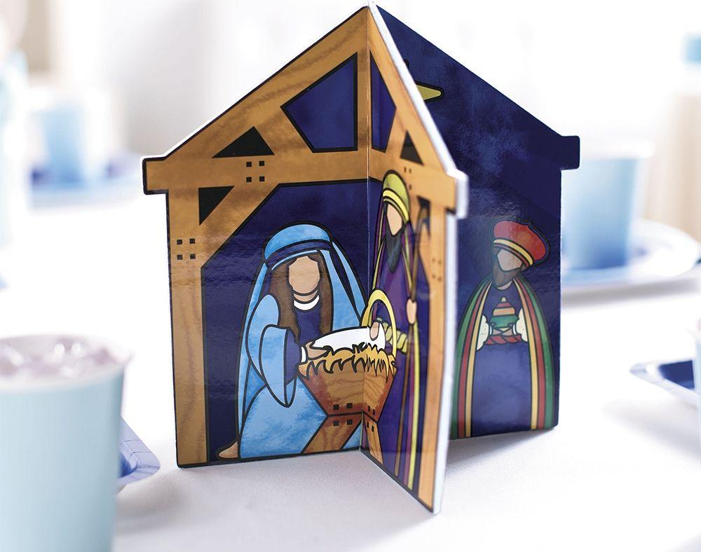 Christian Christmas Craft Ideas Part - 38: 3D Nativity Christian Christmas Table Centrepiece