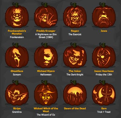 Stellar Four Geeky Pumpkin Carving Patterns in 2019