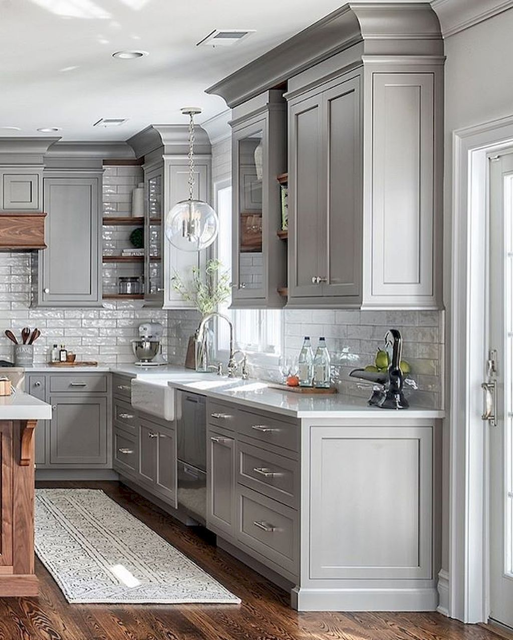 Cool 59 Awesome Gray Kitchen Cabinet Design Ideas Https