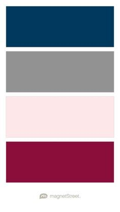 Image Result For Navy Blue Gray Maroon Wedding Colors