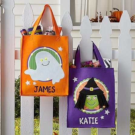 Light-Up Halloween Trick-Or-Treat Treat Bags are IDEAL for mood - decorate halloween bags