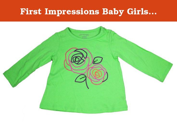 363aa021d1 First Impressions Baby Girls 6-9 Month 3-D Rose Print Long Sleeve T Shirt  (6-9 Months). First Impressions Baby Girl Long Sleeve Shirt Designer Brand  Name ...