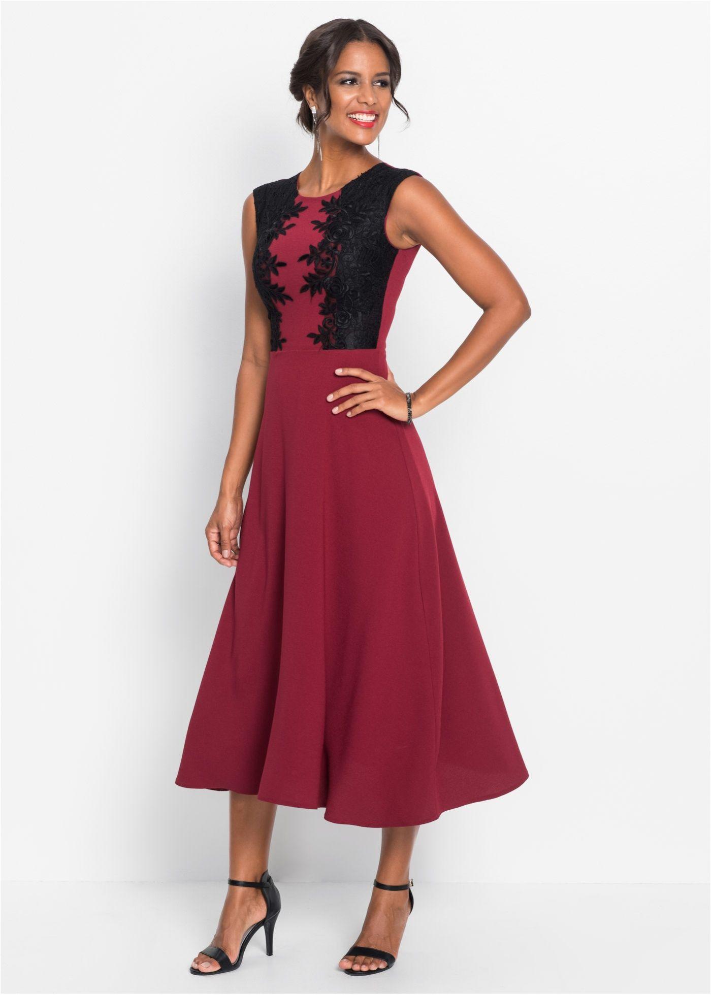 Abendkleid bordeaux/schwarz - Damen - BODYFLIRT boutique - bonprix