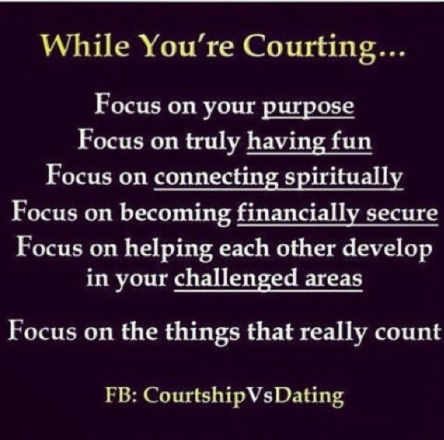 Are courting and dating the same thing