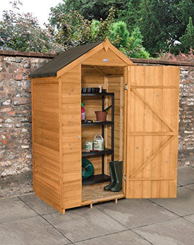 forest garden 3x5 apex security overlap garden shed dip treated