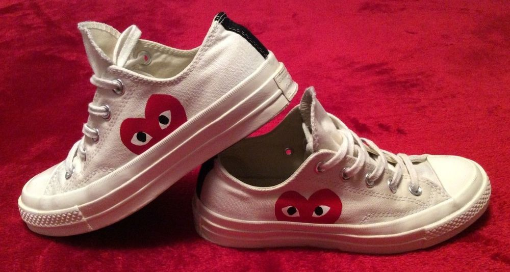 CONVERSE X COMME DES GARCONS PLAY Chuck Taylor 70 Low White