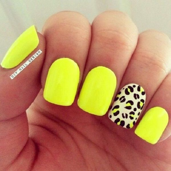 45 Yellow Nail Art Designs Pinterest