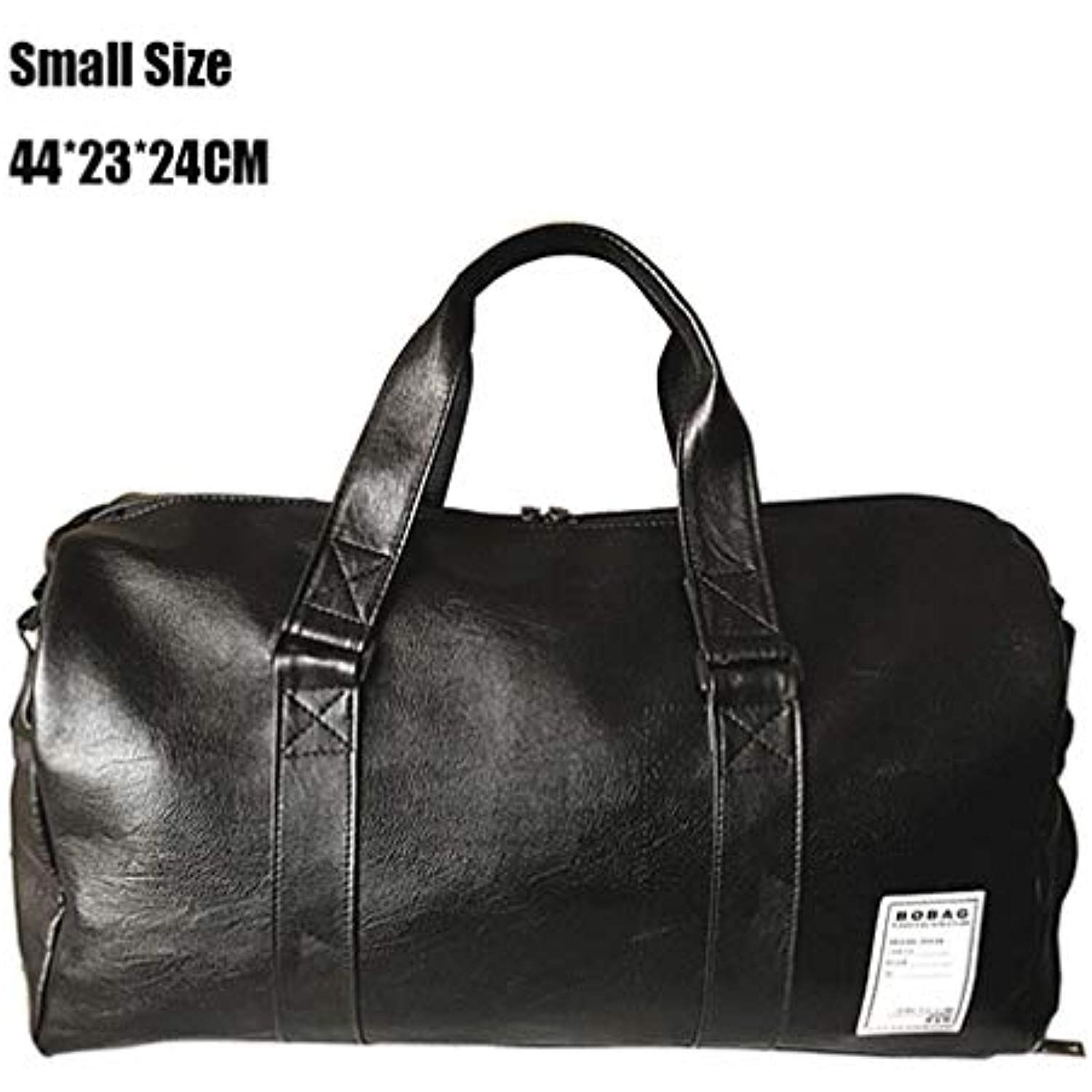 35561a708393 CLHFJ Outdoor Waterproof Top PU Leather Men Sports Gym Bags Training ...