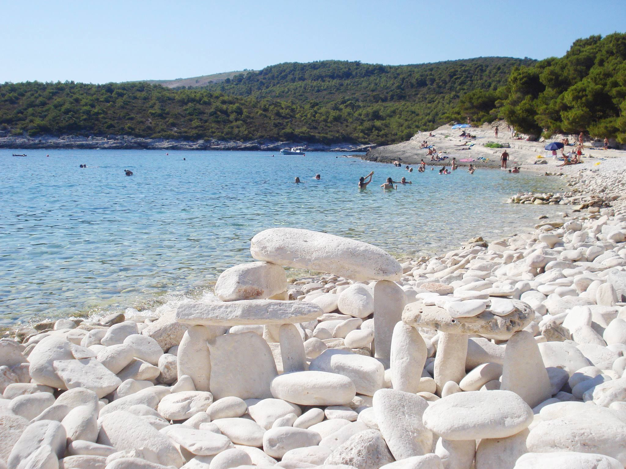 Silver Srebrna Beach On The Island Of Vis Is One Of The Most