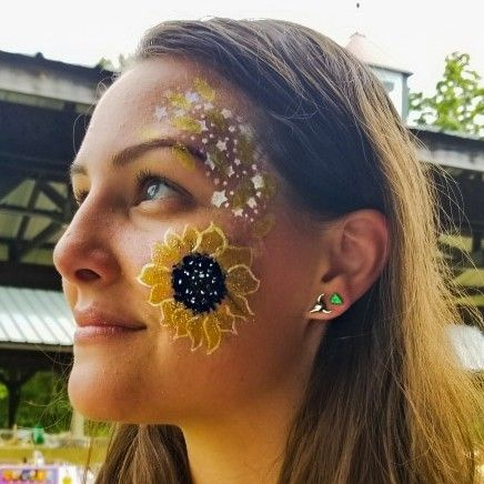 sunflower facepaint for beginners  face painting body