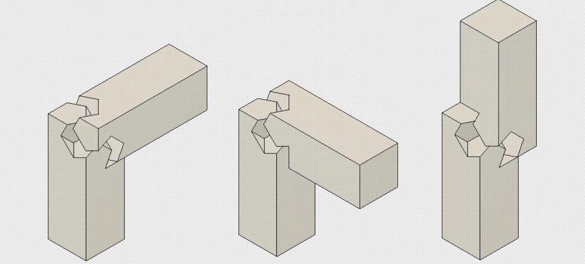 La complexit g om trique des assemblages en bois de la menuiserie japonaise menuiserie - Assemblage bois japonais ...