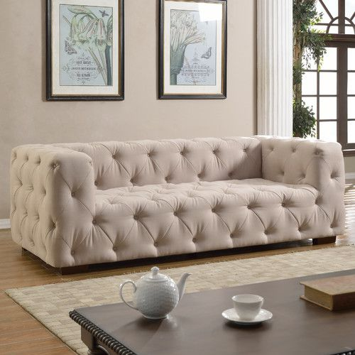 Found It At Joss Amp Main Tufted Large Sofa Love Get Blue
