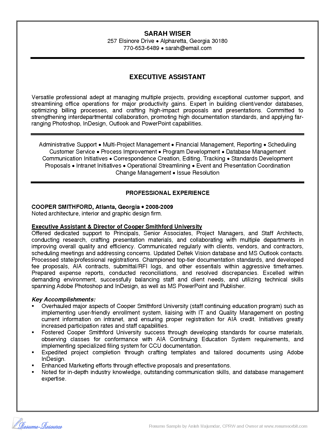 Finance Executive Resume  HttpWwwResumecareerInfoFinance