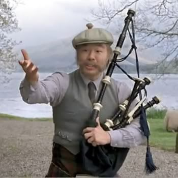 Scotch Korean from those Starburst commercials. Everyone loves a little bagpipes