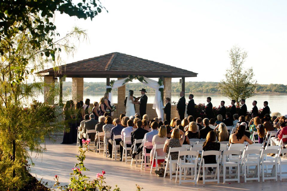Ceremony at the Gazebo. Romantic sunset, Event venues