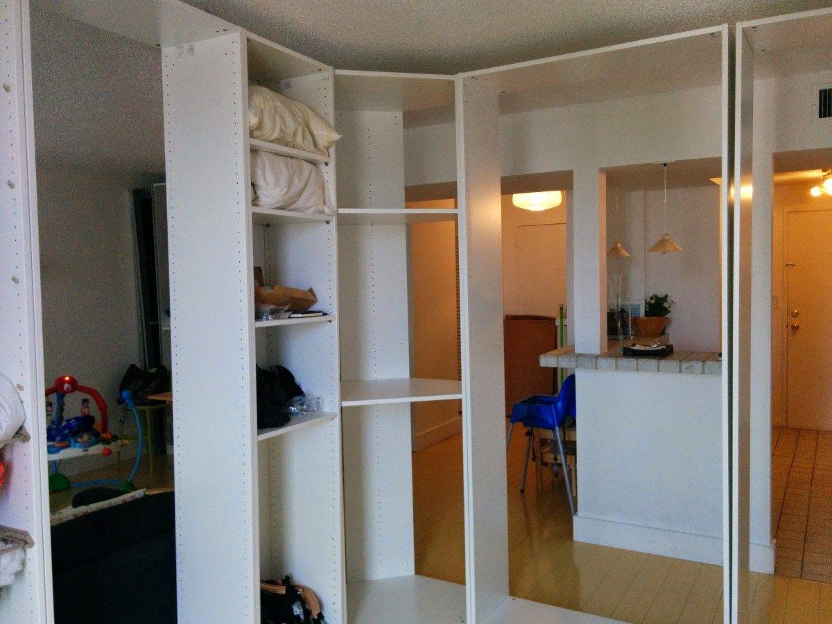 Making A Pax Room In The Living Room Ikea Hackers Ikea Pax Closet Ikea Room Divider Ikea Pax