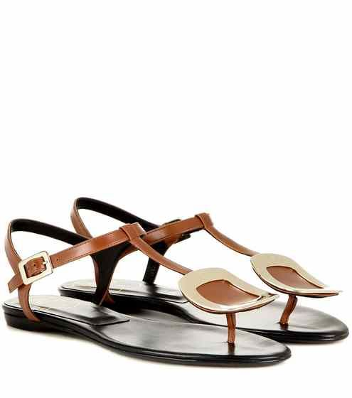 Thong Chips embellished leather sandals | Roger Vivier