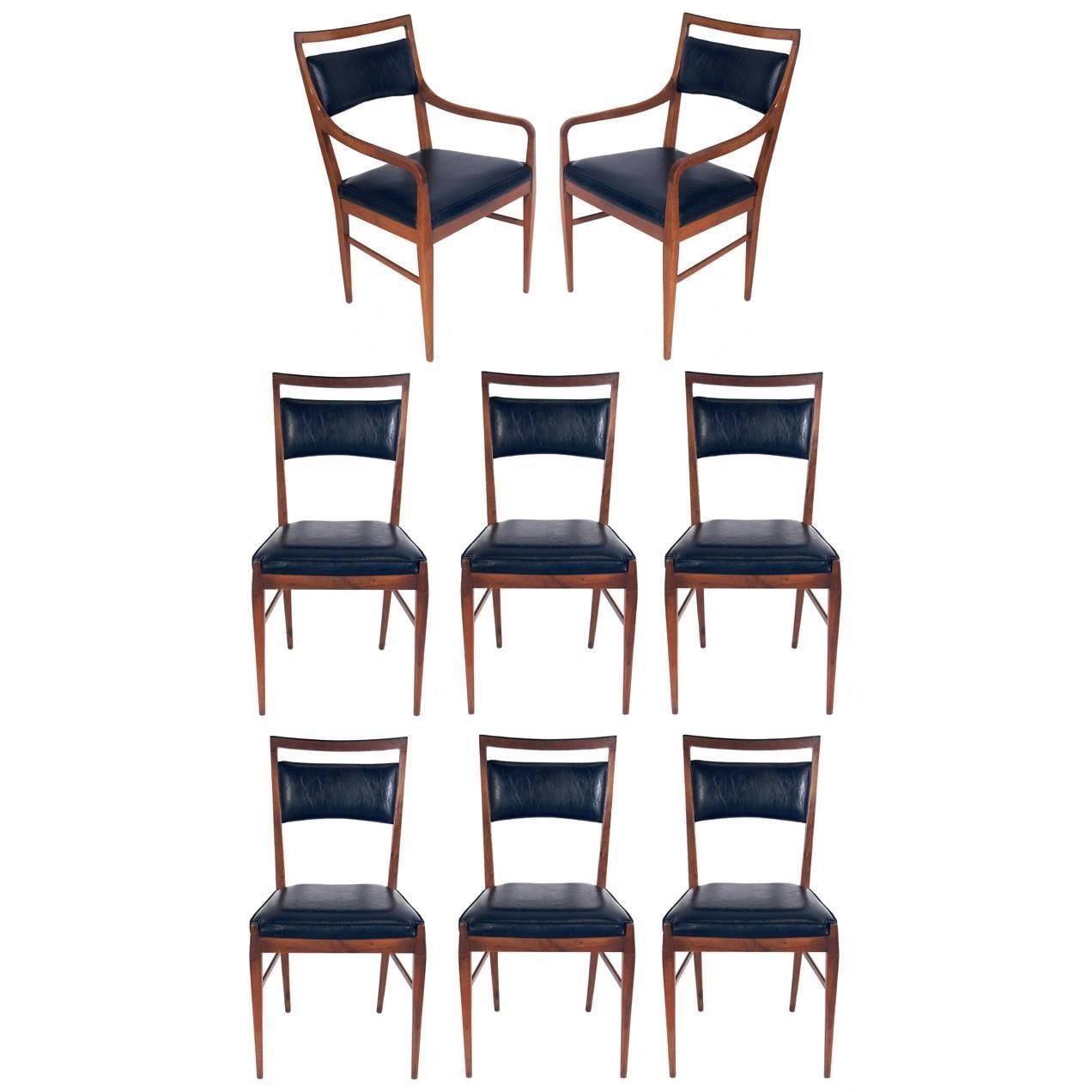 Set of Eight Modern Dining Chairs by Paul McCobb for ...