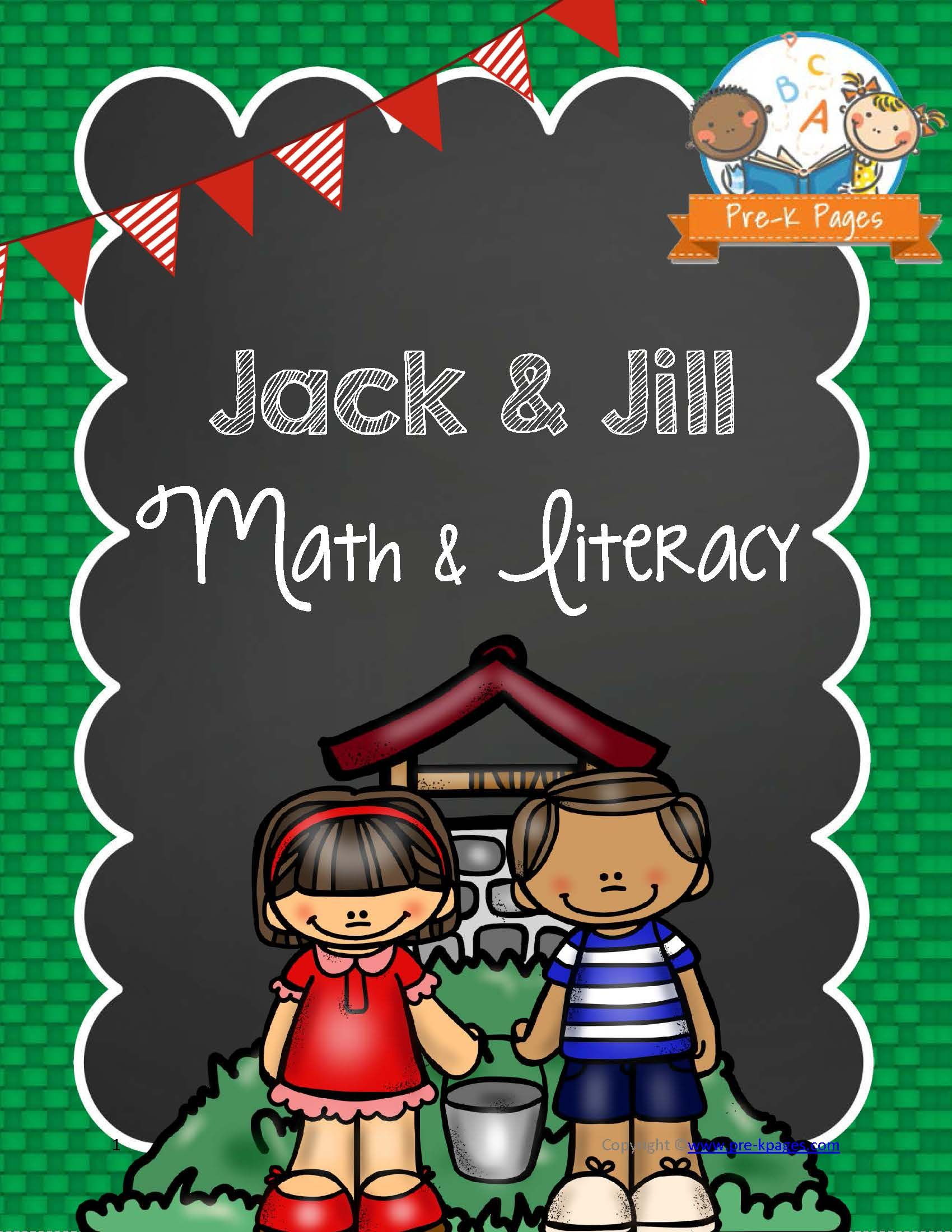 Activities Printable Jack And Jill Nursery Rhyme Math
