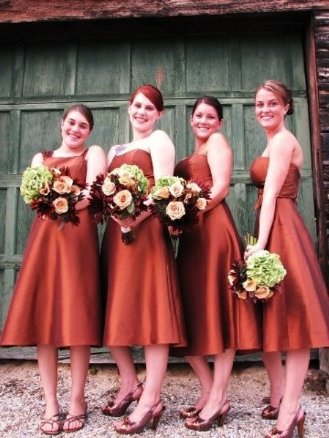 grey wedding dresses with fall colors #Autumn Wedding #fall ...