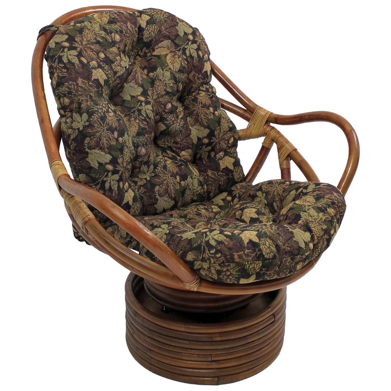 rattan swivel chair cushion