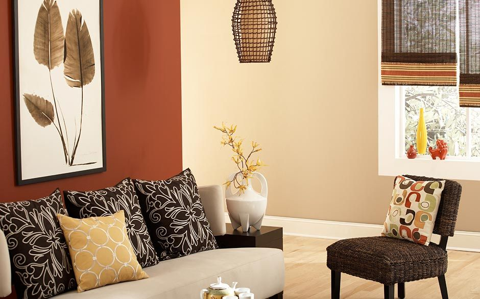 Love the color of the accent wall and the surrounding neutral ...