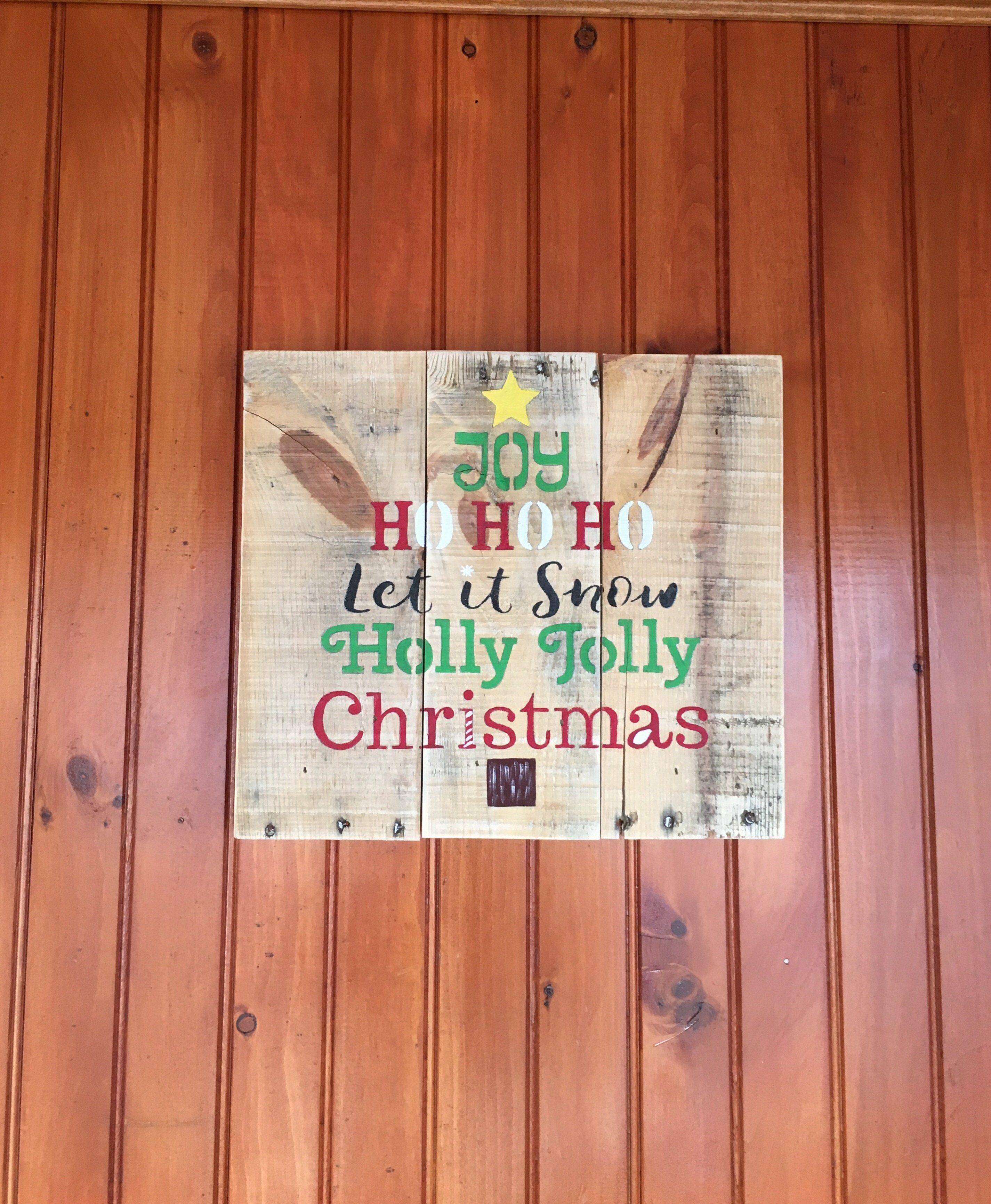 Wooden Christmas Sign, Rustic Christmas Decor | Christmas ...