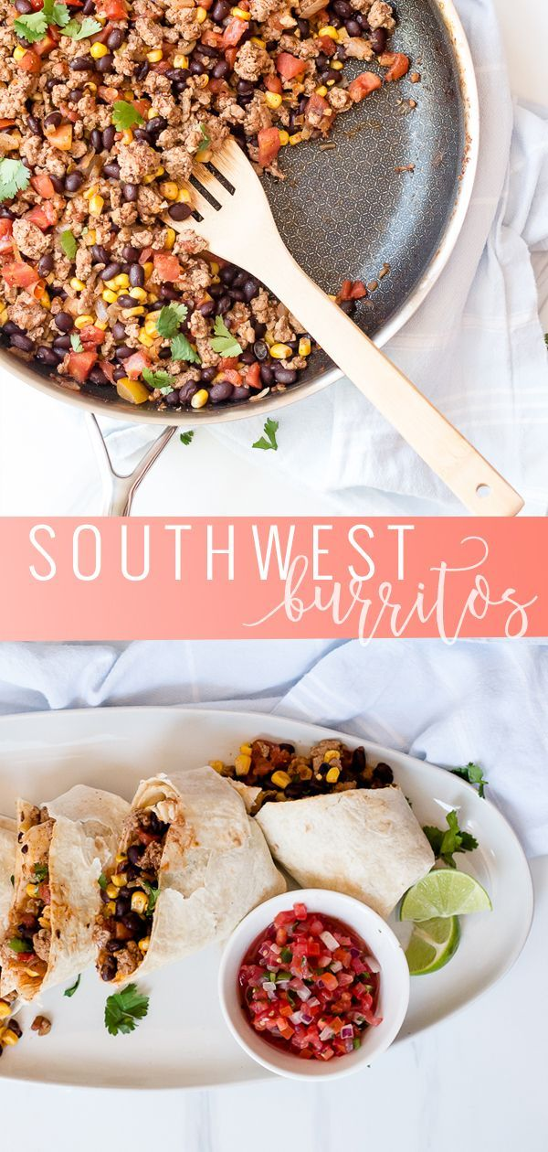 Photo of Southwest Turkey Burrito | Main Dish | Oh So Delicioso