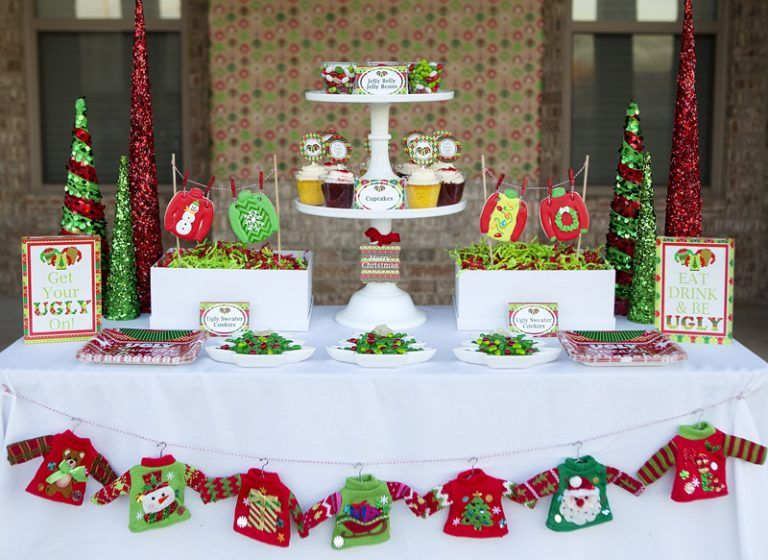 Ugly Sweater Party - Fun Tacky Sweater Christmas Party With Printables