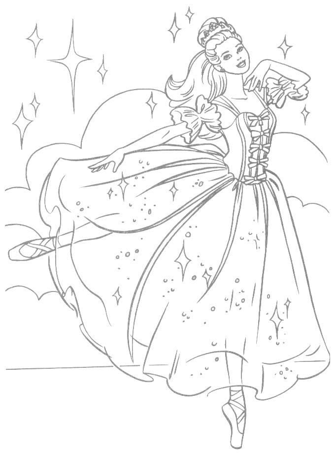 Barbie Coloring Page