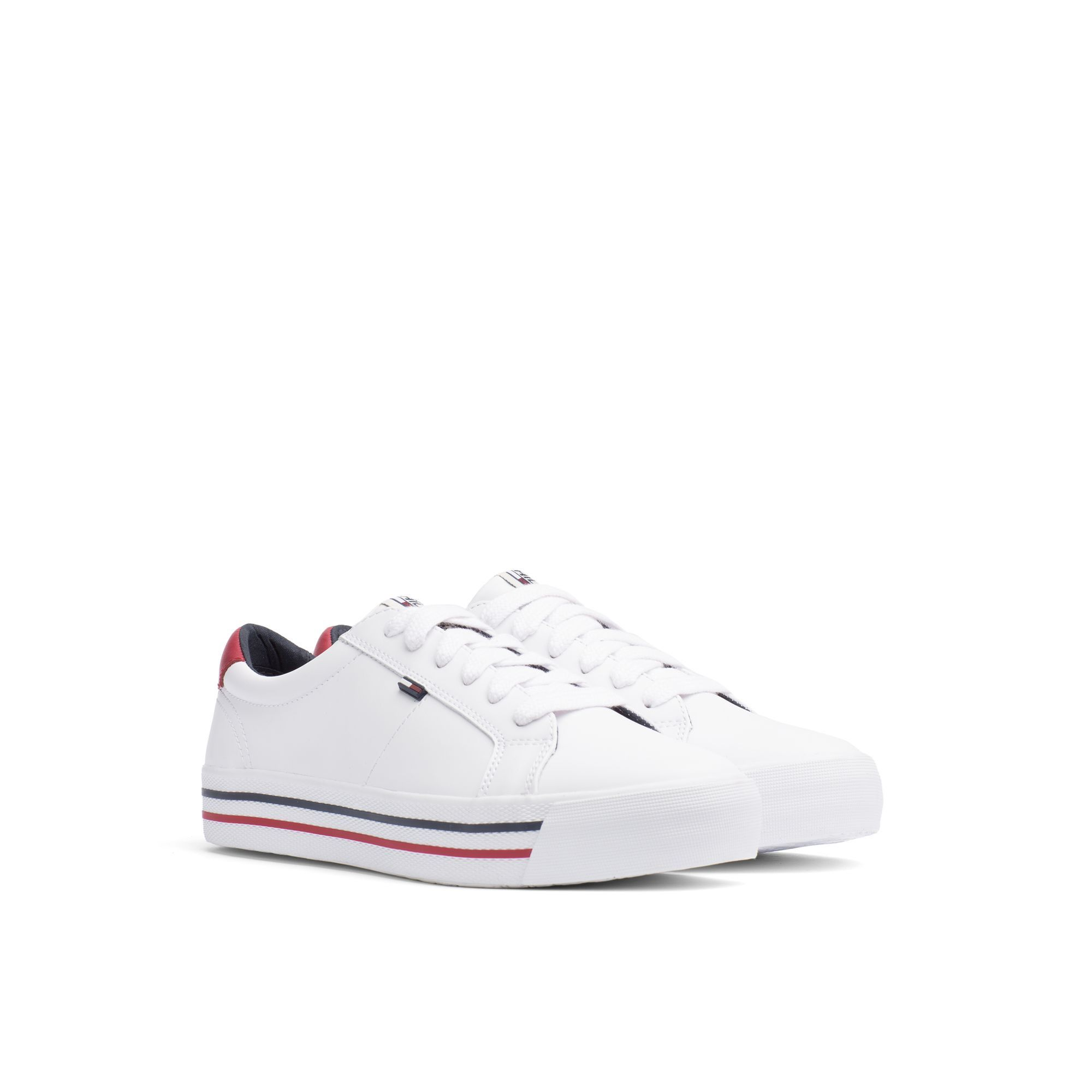 9262bdb6cb35 TOMMY HILFIGER STRIPED SOLE SNEAKER - WHITE.  tommyhilfiger  shoes ...