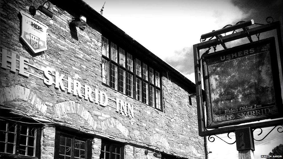 The Skirrid Inn near Abergavenny, Wales, UK, is one of the oldest and most haunted pubs in Wales. Over the years, 185 people were reputedly sentenced and hanged there. Rope marks are still visible on wooden beams by the staircase.