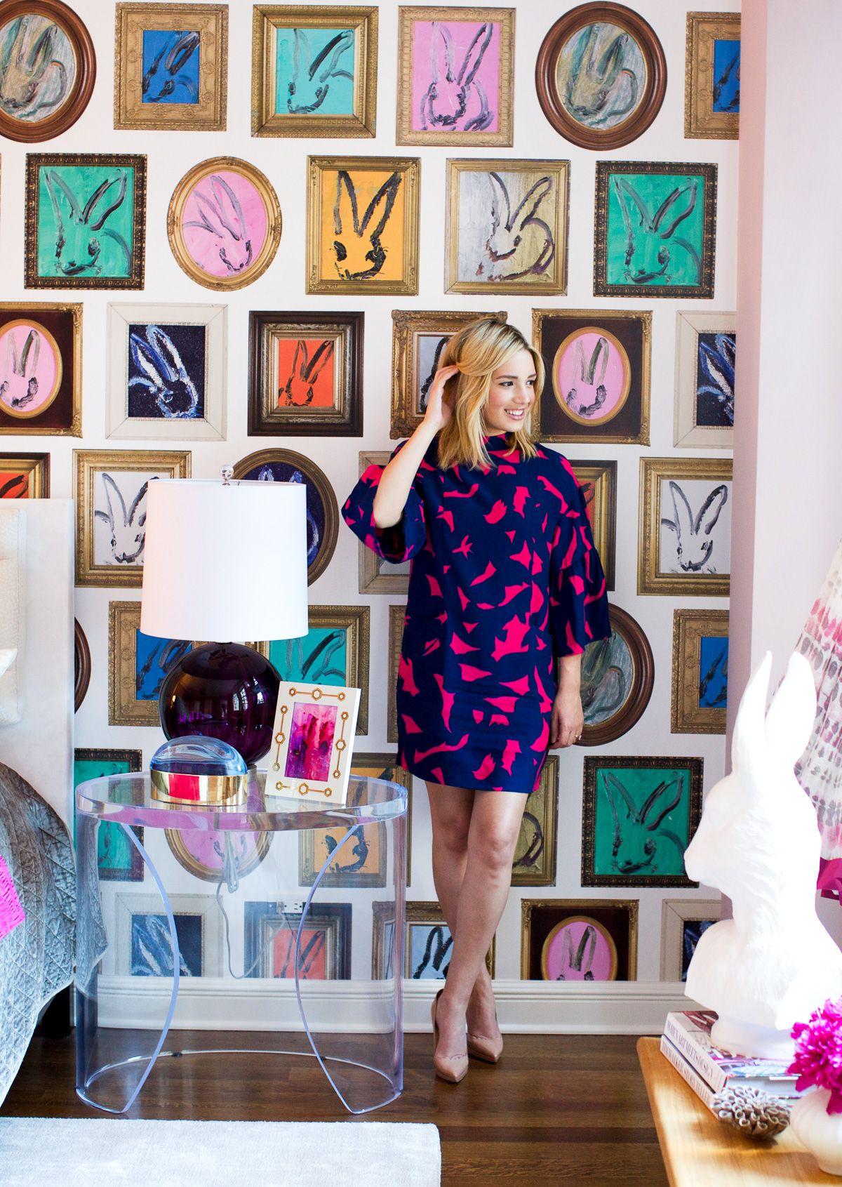 The Chicago Life Blog- hunt slonem bunny wallpaper | paint ...