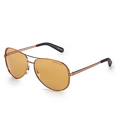 afb6d9b738f Michael Kors Chelsea Flash Mirror Metal Aviator Sunglasses  Dillards ...