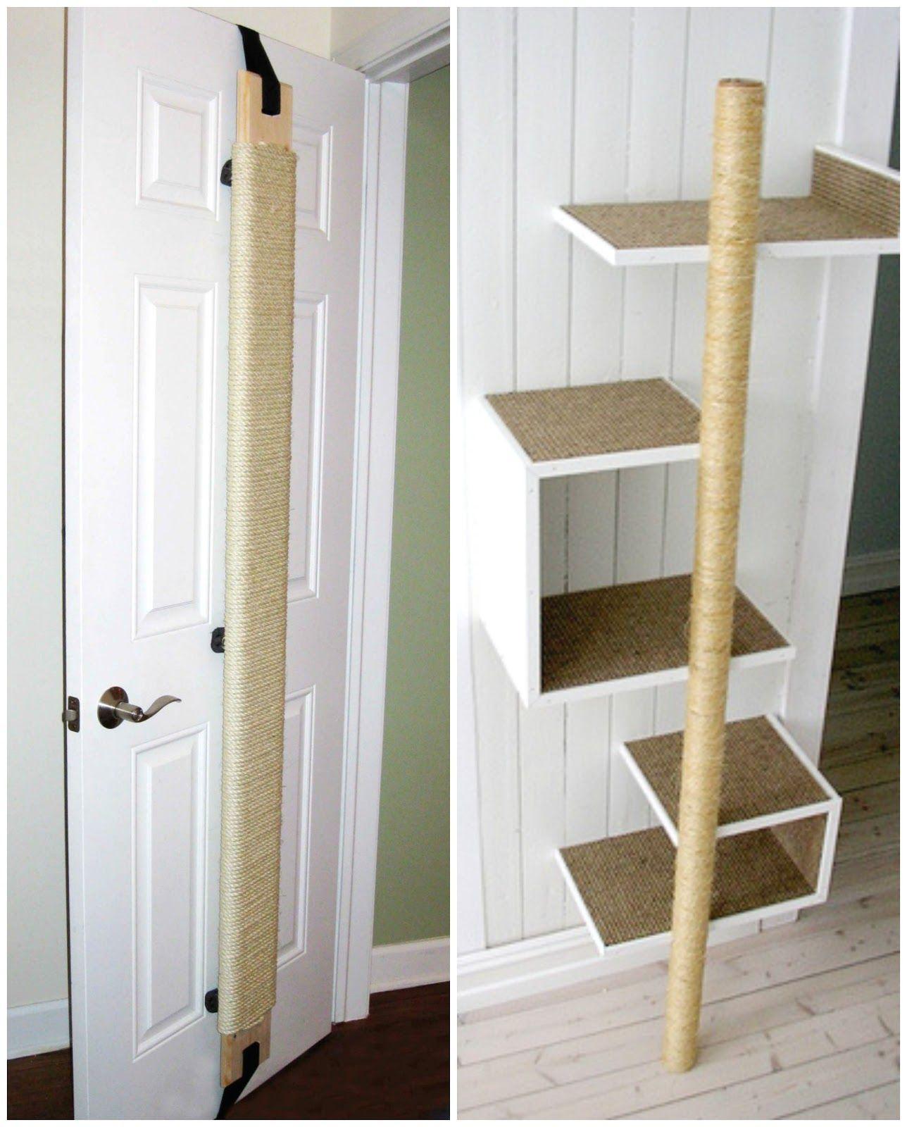 comment construire un grattoir pour chats cat towers. Black Bedroom Furniture Sets. Home Design Ideas