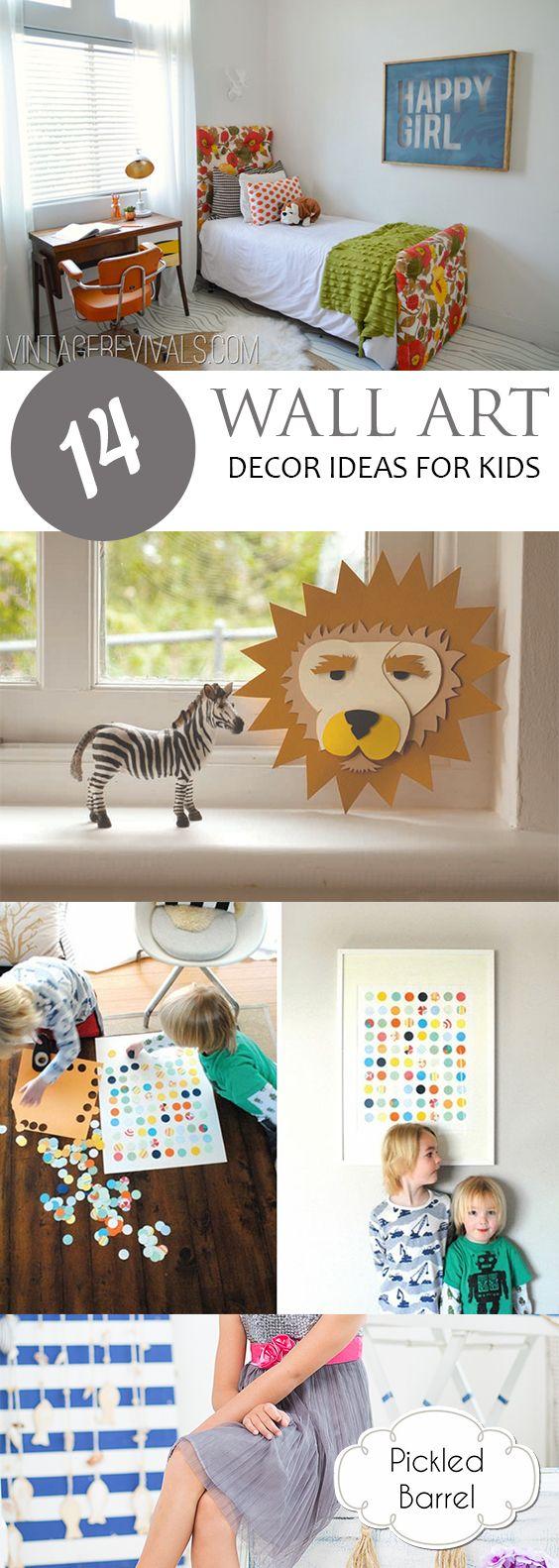 wall art decor ideas for kids family life pinterest diy