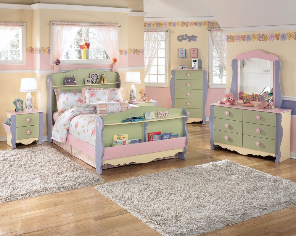 Best Twin Full Life Size Fairytale Doll House 4 Pc Sleigh Bedroom Furniture Set New In … Girls 640 x 480